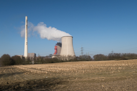 nuclear power station: a big nuclear power station Stock Photo
