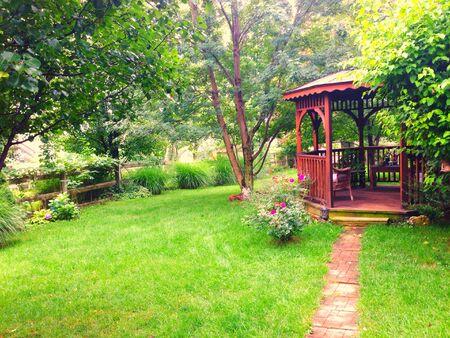 Mijn achtertuin Stockfoto