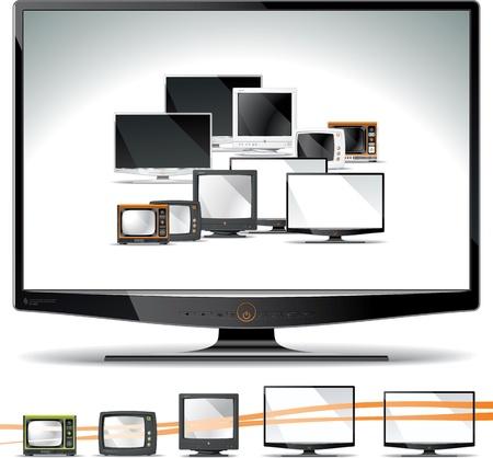 Computerschermen als hun ontwerp geëvolueerd.