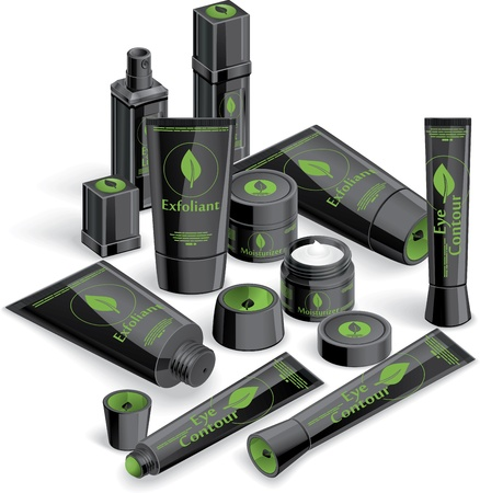 Black Cosmetics Array - Vector illustration