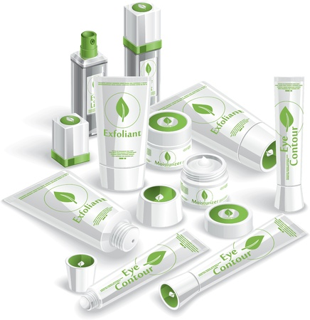 White Cosmetics Array - illustration  Vector