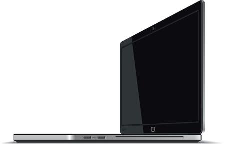 ノート パソコンの右側にある水平ビュー - ベクトル