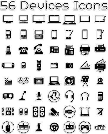 portable radio: Dispositivos Electr�nicos - Vector Icons Set Vectores