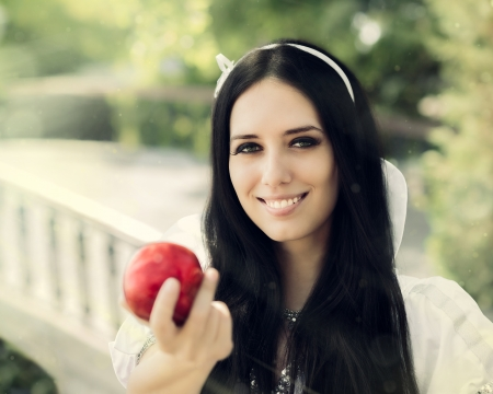 Snow-White with the Famous Red Apple   photo
