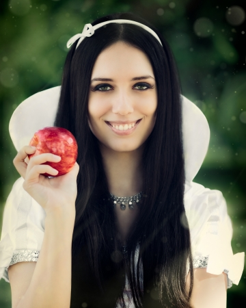 black princess: Snow-White with the Famous Red Apple