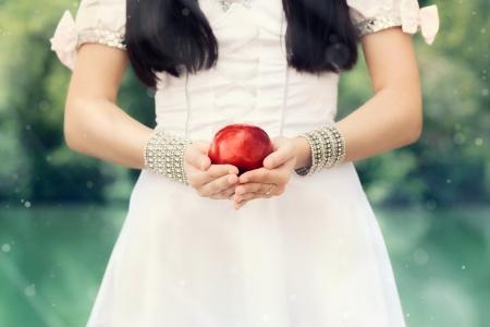 有名な赤リンゴと雪の白