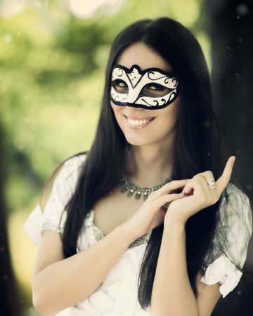 Girl with Carnival Mask  photo