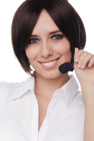 Call Center Girl Headshot photo