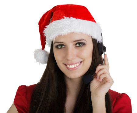 Christmas Call Center Girl  photo