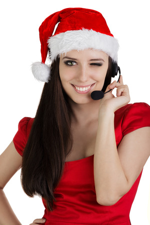 Christmas Call Center Girl  photo