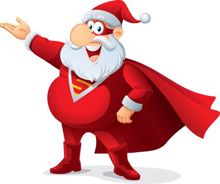 Super Santa - Vector Cartoon