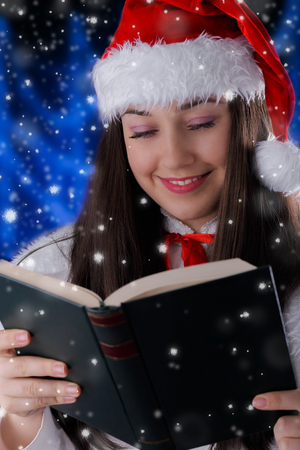 Christmas Girl Reading  photo