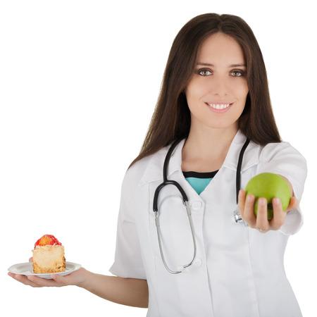 balanza de laboratorio: Frutas Recomendando Nutricionista Foto de archivo