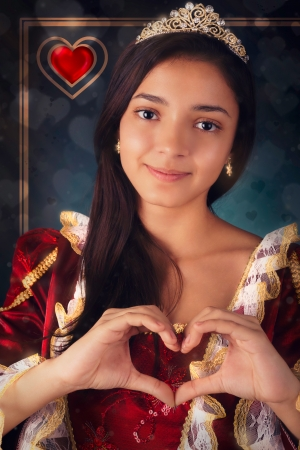 Queen of Hearts Portrait photo