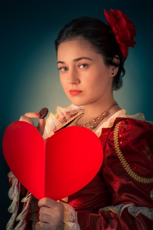 Princess Portrait with Heart Shaped Card photo