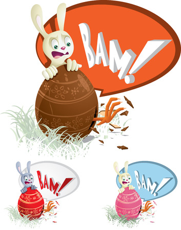 Easter Egg Surprise  Vector