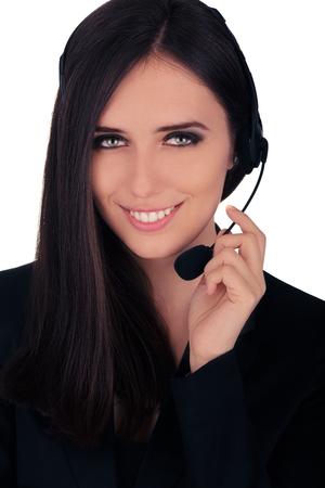 beauty center: Call Center Operator in Black Blazer