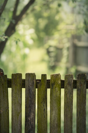 Old Rustic Wooden Fence  photo