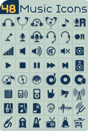 jack pack: 48 Music Icons Set