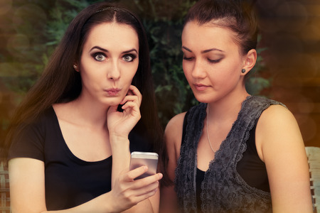 bff: Young Women Surprised by Text Message