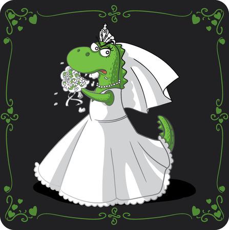 matrimonial: Bridezilla Cartoon  Illustration