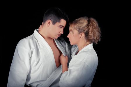 defensive posture: Karate Couple Passion