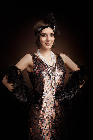 Vintage style image of a flapper girl photo