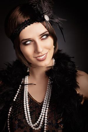 Portrait of a flapper girl photo