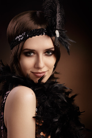 Portrait of a flapper girl photo