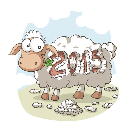file type: Drawing of the 2015 Chinese zodiac symbol File type: vector EPS AI8 compatible. No gradients, no transparencies used. Illustration