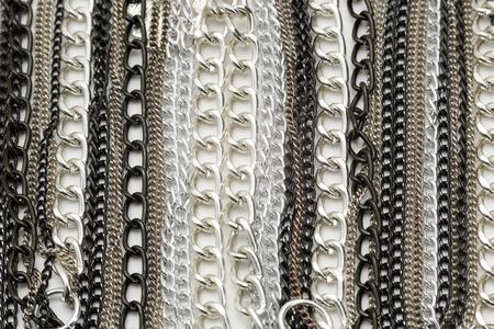 sterlina: Catene Collana in argento metallizzato Archivio Fotografico