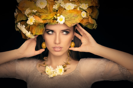 Autumn Woman Beauty Portrait