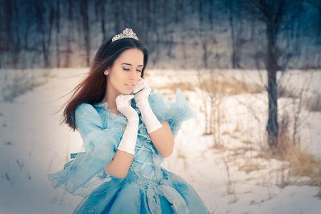 Beautiful Snow Queen in Winter Decor
