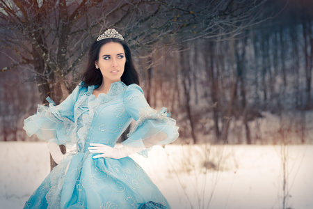 queens: Beautiful Snow Queen in Winter Decor