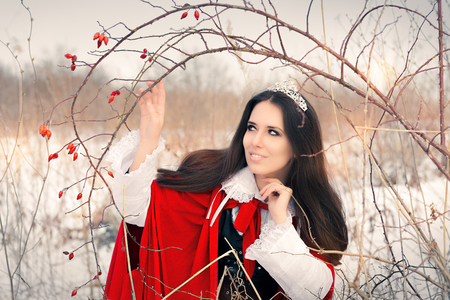 naturist: Winter Princess with Rosehip Branch