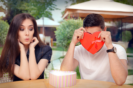 timorous: Boyfriend Embarrassed with his Valentine Gift