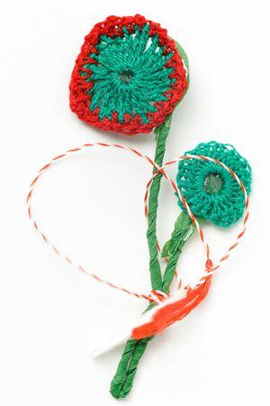 meticulous: Crochet Flower Handmade Decorative Object
