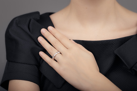 elegant girl: Close up Detail of a Ring on a Female Hand Model