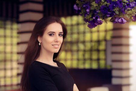 charismatic: Portrait of a Beautiful Summer Woman Stock Photo