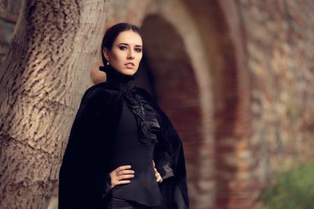 Beautiful Dark Princess at the Castle