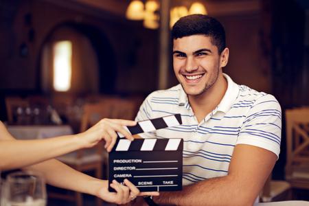 punctual: Actor profesional listo para una sesión