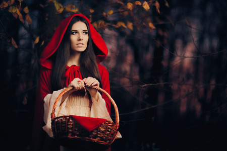 little red riding hood: Little Red Riding Hood in the Forest