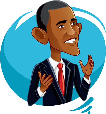 Editorial Caricature of Barack Obama