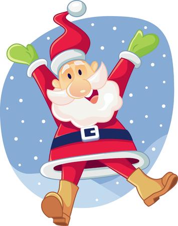 thrilling: Super Excited Santa Claus Vector Cartoon