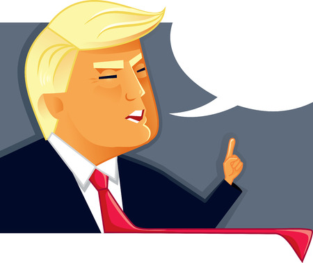 Editorial Vector Illustration of Donald Trump