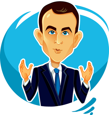 Emmanuel Macron Vector Editorial Caricature