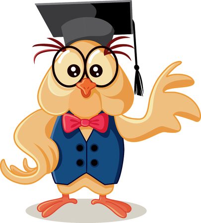Cute Owl with Graduation Cap