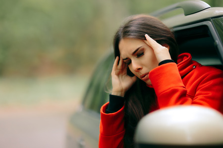 Women with Severe Headache Suffering from Motion Sickness