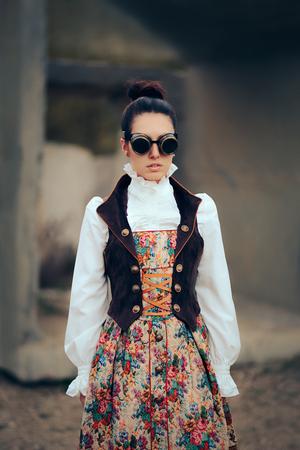 Sci Fi Retro Futuristic Steampunk Cosplay Woman Portrait