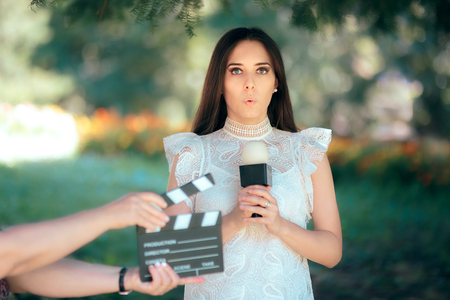 Shy Actress Auditioning for Movie Film Video Casting